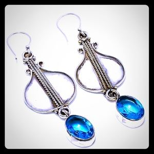 🤩Coming Soon! Blue Topaz 925 Silver Earrings!
